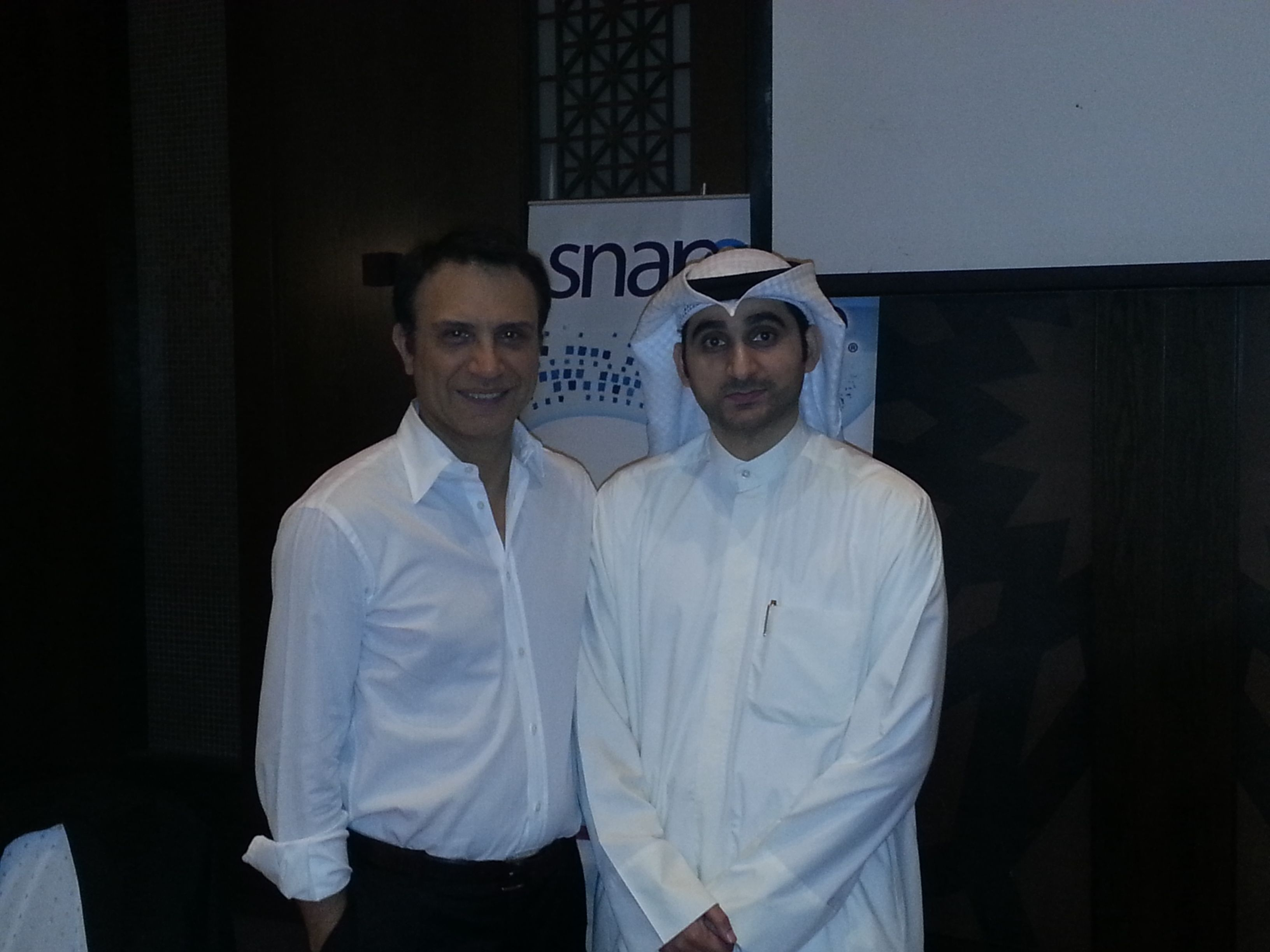 Our MD Mr. Muhammad Al-Tajalli with Dr. Cyrus